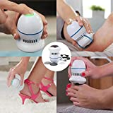 Portable Electric Vacuum Adsorption Foot Grinder,US FastShipper, Professional Motor Remover Absorbing Skin Callus Remover Foot Polisher USB Rechargeable white
