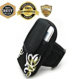 MeanHoo Cell Phone Black Fashion Armband Bag Running & Exercise Armband Protective Holder Pouch Case For Sweatproof Gym iPhone 6 6S Plus 5S 5C SE iPod Samsung Galaxy S7 S6 S5 Running Cycling Traning