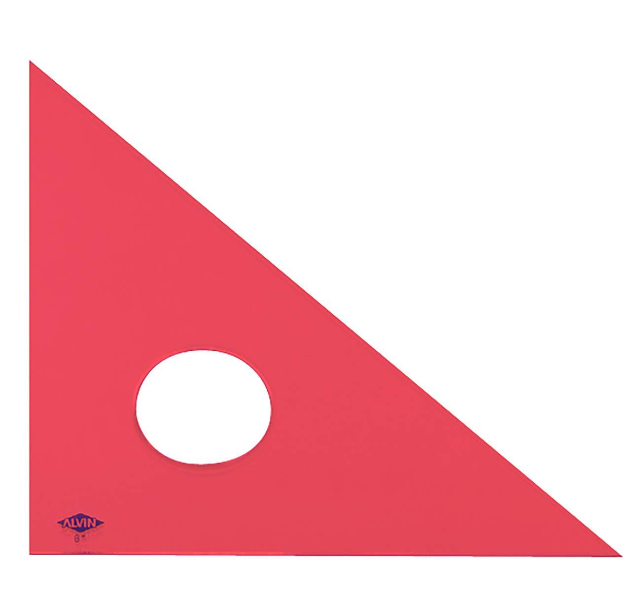 Alvin 131F-10 10 inch Fluorescent Professional Acrylic Triangle 45/90 by Alvin