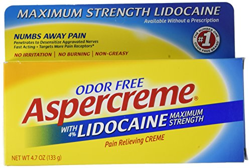 Aspercreme Pain Relieving Creme With Lidocaine, 4.7 Ounce, Pain Relieving Cream Helps Reduce and Numb Pain from Arthritis, Backache, Muscle Strains and Sprains (Best Ointment For Muscle Strain)