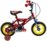 Sonic Kap-Pow Boys' Kids Bike Red/Blue, 8' inch steel frame, 1 speed adjustable easy-reach levers padded comfort saddle