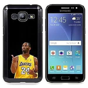 - Laker 24 Kobe - - Cubierta del caso de impacto con el patr??n Art Designs FOR Samsung Galaxy J2 Queen Pattern