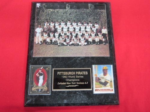1960 Pirates World Series Champions 2 Card Collector Plaque w/ 8x10 Team - Pittsburgh Series Champions Pirates World