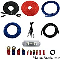 4 Gauge Amp Kit Amplifier Install Wiring Complete 4 Ga Installation Cables 3000W