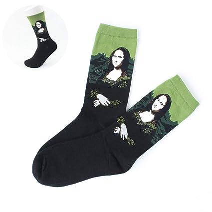 Wudi 1 par Unisex Calcetines Coloridos de Arte con Dibujos Casual Calcetines de algodón Calcetines de