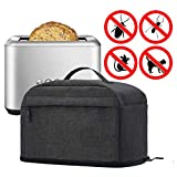 VOSDANS 2 Slice Toaster Cover with Removable Bottom
