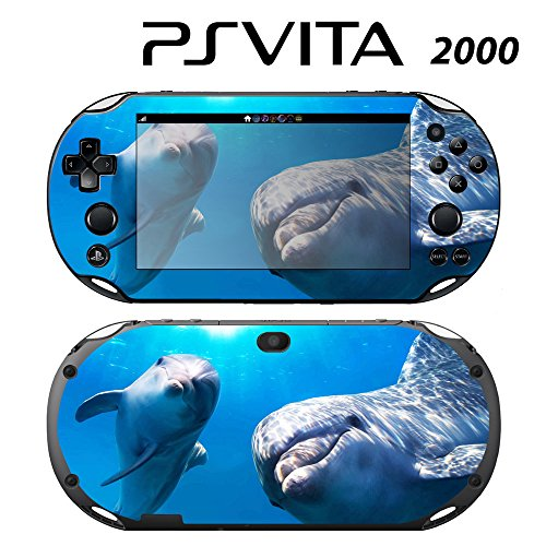 Decorative Video Game Skin Decal Cover Sticker for Sony PlayStation PS Vita Slim (PCH-2000) - Cute Dolphin -  Decals Plus, PV2-AN02