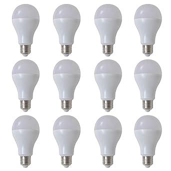 Xingshuoonline - Bombilla LED de 9 W para decoración del hogar (12 unidades, luz