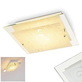 Deckenleuchte Rusty Quadrat Aus Glas Quadratischer Deckenspot Mit