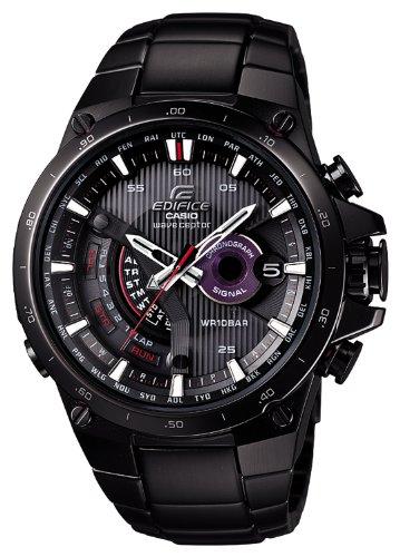 1a Casio Edifice - Casio EQWA1000DC-1A Edifice Solar Powered Black Plated Atomic Watch