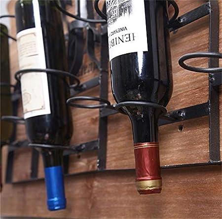 L.TSN Botellero Soporte Pared Mara Metal 6 Botellas |Loft Estante Pared Estante Pared |Estante para Botellas Vino |Vinoteca Cubo Estilo Industrial Retro