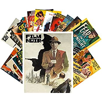 Postcard Set 24 cards Film Noir Vintage Movie Poster Hardboiled Detective