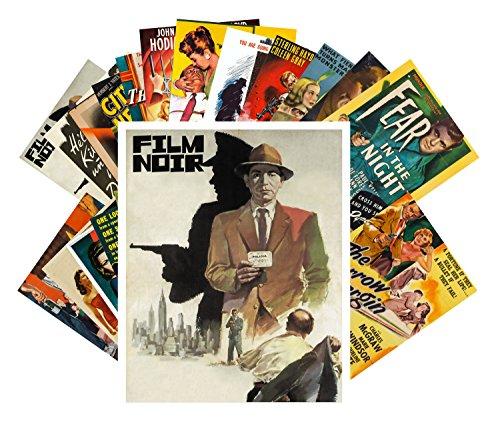 Postcard Set 24 cards Film Noir Vintage Movie Poster Hardboiled Detective (Classic Vintage Postcard)