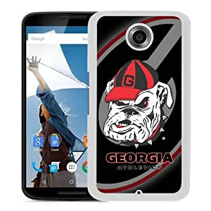 Southeastern Conference SEC Football Georgia Bulldogs 3 White Personalized Recommended Custom Google Nexus 6 Phone Case