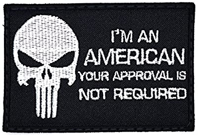 Saying Quotes with Punisher Skull Velcro Patches Tactical # 2