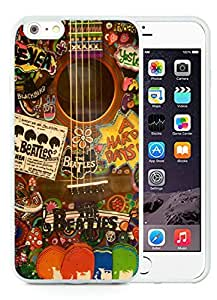 Unique and Grace Case The Beatles Hippie Guitar iPhone 6 Plus 5.5 Inch Case in White