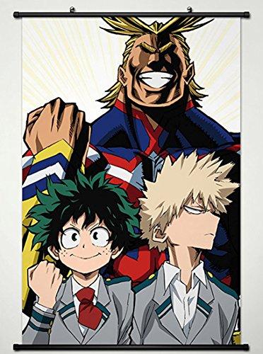 Wall Scroll Poster Fabric Painting For Anime My Hero Academia Izuku Midoriya & Katsuki Bakugou & All Might L from My Hero Academia