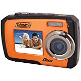 Coleman Duo 2V7WP-O 14 Megapixel Waterproof Digital Camera with Dual LCD Screen (Orange)