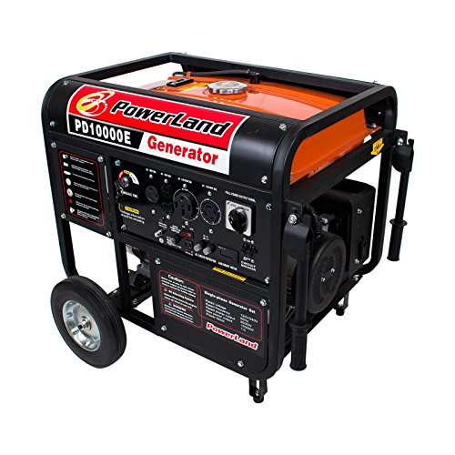 PowerLand PD10000E Gas Generator-16HP Electric &. Recoil/Pull Start-Ship to 48 lower states ONLY. No Puerto Rico shipping address. by Powerland