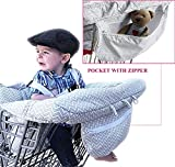 2-in-1 Shopping Cart Cover and Highchair Cover for