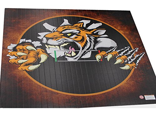 Resilite Wrestling Mat - Liteweight - DigiPrint, 10'x10' (Two 5'x10' Pieces), Jordan Burroughs Black, Tape Connection by Resilite