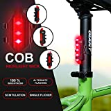 Outair USB Rechargeable Bicycle Light Front And