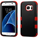 MyBat Cell Phone Case for SAMSUNG Galaxy S7 - Retail Packaging - Black/Red
