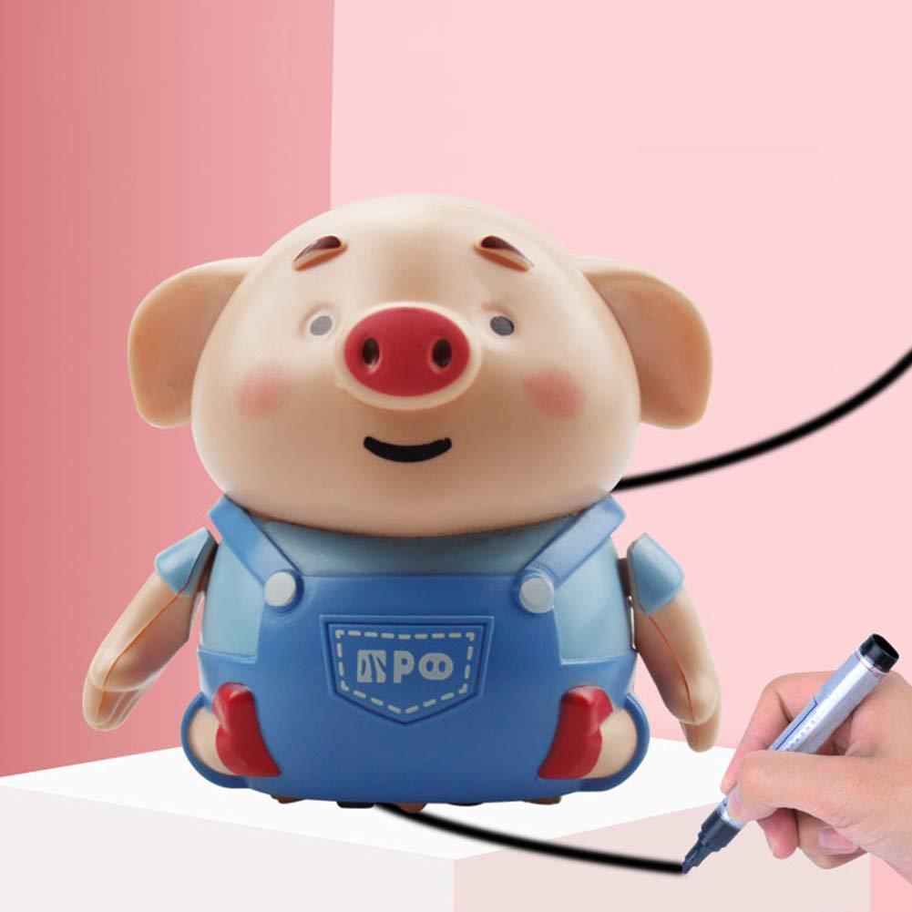 6SHINE Actualice Magic Inductive Pig Toys SIGA Black Drawing Lines Juguetes educativos para ni/ños Las Mejores bater/ías de Regalo Incluidas 8 5.5 8cm