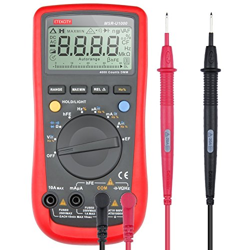 Digital Ohm Meter : Etekcity msr u auto ranging digital multimeter volt