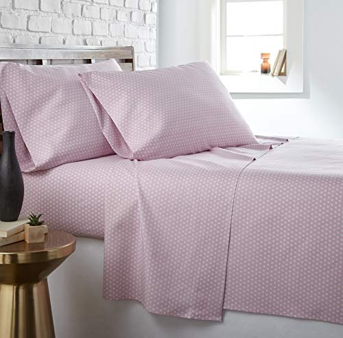 Trendy Dots - Southshore Fine Living, Inc. The Vilano Choice Collection Sheet Sets, Trendy Dots Pastel Pink, Queen