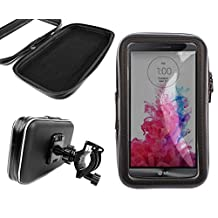 DURAGADGET Shock-Absorbing, Water-Resistant Cyclists' Smartphone Case & Bike Handlebar Mount for The New LG G4 (2015 Release) / LG G5 (2016 Release)
