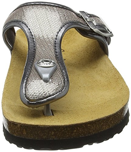 Oban Mules Sequins Jeans Pepe Plateado silver Mujer q1C568UwE