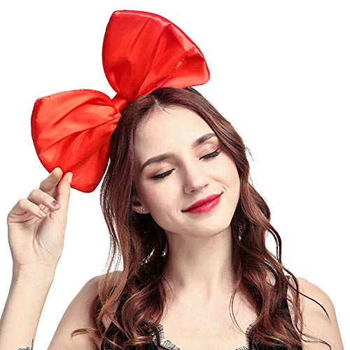 Ztl Women Huge Bow Headband Hairband Hair Hoop Costume Accessories Party Props, Red -
