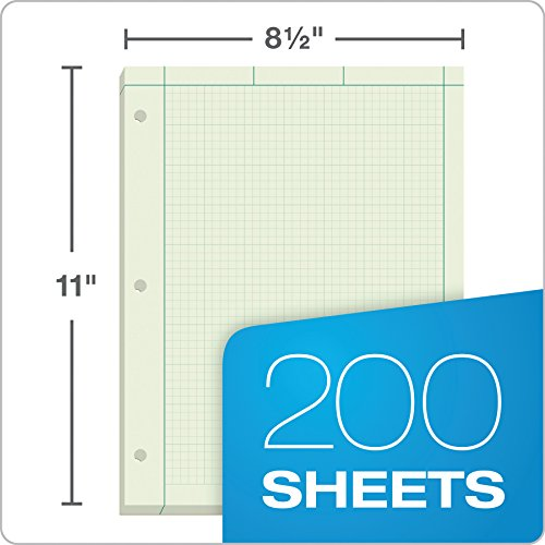 TOPS Engineer's Computation Pad, 200 Sheets (35502), 8.5 x 11 inches, 3 Hole Punch by Tops (Image #4)