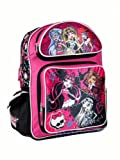 Pink and Black Pins and Skulls Monster High 12' Backpack - Monster High Bookbag