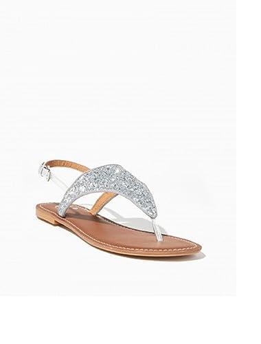 baaa454b5da5e Chatties Girl s Glitterati Thong Sandals (Medium) Silver