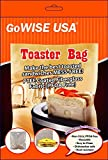 2 Pack Non-Stick Reusable Toaster Bags 6.7'' x 7.5'' - Oven, Microwave, Freezer & Dishwasher Safe GW22618