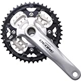 Image of Shimano Deore FC-M610 Deore 10-speed chainset - 42/32/24T - 175 mm - silver 42/32 / 24 teeth Silver