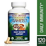Cheap Host Defense – Stamets 7 Multi Mushroom Capsules, Supports Overall Immunity by Promoting Respiration and Digestion with Lion's Mane, Reishi, and Cordyceps, Non-GMO, Vegan, Organic, 120 Count