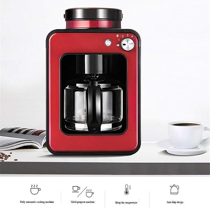 CHNFF Práctico Inteligente Máquina de café, de Forma Permanente Filtro Reutilizable, con Aislamiento de 600 W, 580 ml, Rojo: Amazon.es: Hogar