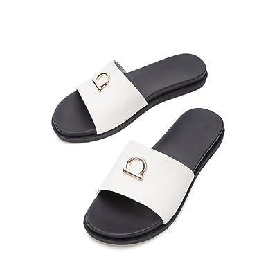 pllp Sandales douces d'été, pantoufles à la mode des femmes, sandales plates occasionnels, sandales à bout pointu à talons plats, talons hauts