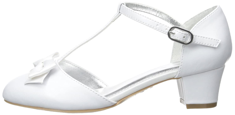 Nina India T-Strap Dress Shoe (Little Kid/Big Kid), White, 2 M US Little Kid