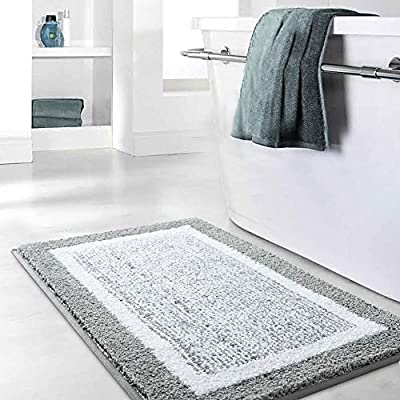 Bathroom Rug Mat, Ultra Soft and Water Absorbent Bath Rug, Bath Carpet, Machine Wash/Dry, for Tub, Shower, and Bath Room - (Ultra absorbent and soft)-All of our mat pads are constructed of premium microfiber materials, It can absorb 3 times of water in few seconds. (Anti-Slip design, more safety)-TPR bottom, strong Adhesion can help keep rugs in place on your floors and protect your family's safety. (Machine washable)-Machine washed and easy to dry, convenient, save time and energy. - bathroom-linens, bathroom, bath-mats - 5121g8WrnYL. SS400  -