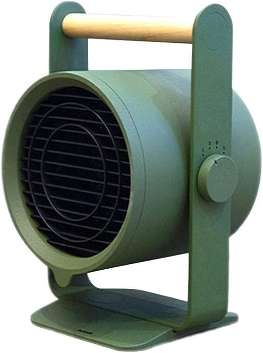 HM&DX PTC Cerámica Ventilador Calefactor de Espacio, Portátil Silence Calefactor eléctrico 3 Ajustes de Calor Protección Segura Mini Calentador para Inicio Dormitorio Oficina-Verde: Amazon.es: Hogar