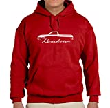 1960-63 Ford Ranchero Pickup Truck Classic Outline Design Hoodie Sweatshirt large red