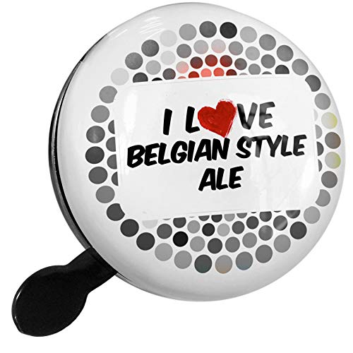 NEONBLOND Bike Bell I Love Belgian Style Ale Beer Scooter or Bicycle Horn ()