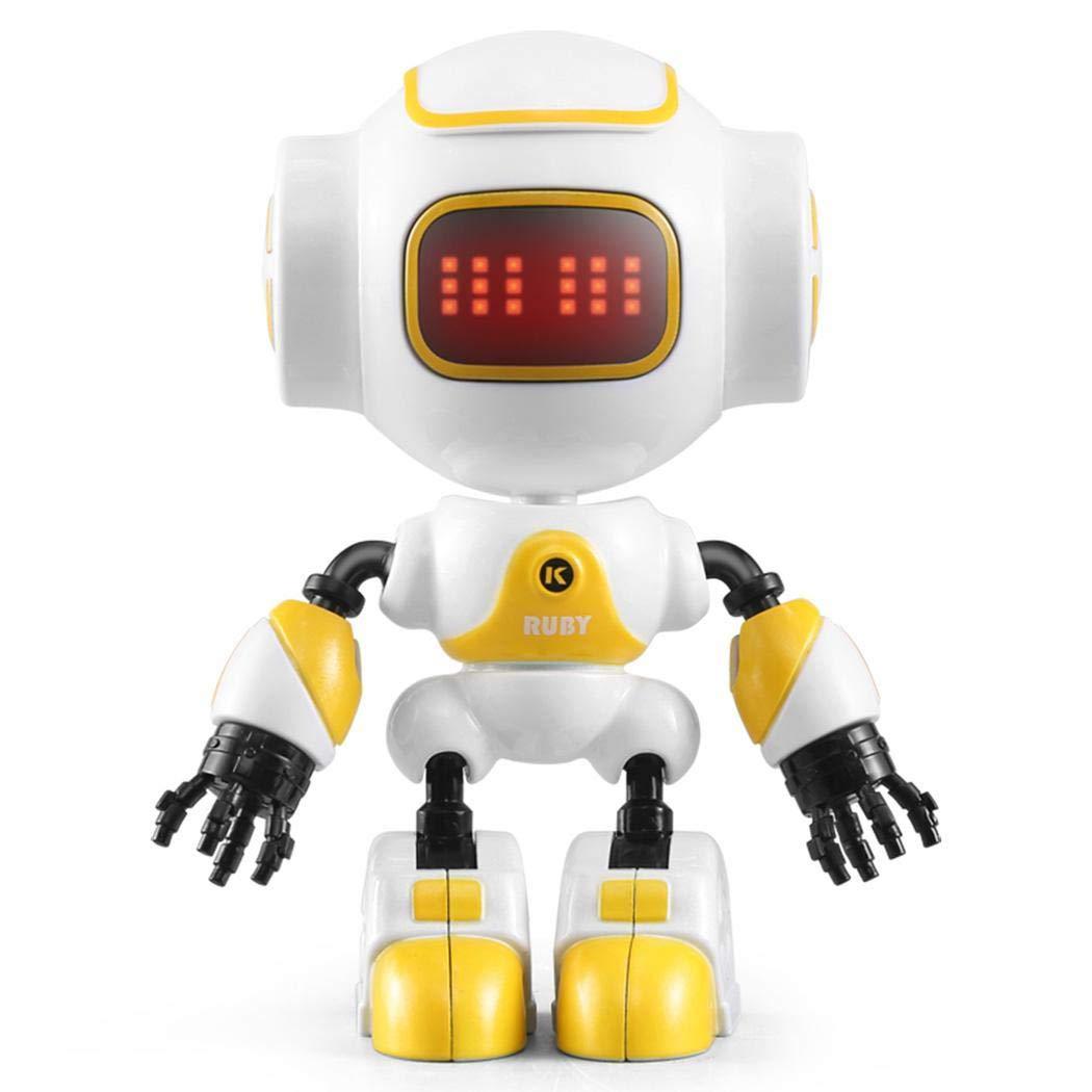 kaimus Giocattoli Robot per i Bambini, rilevamento tattile Fai da Te Giocattoli del Robot, Intelligente Mini Robot della Lega dell'occhio di Charme LED per Ragazzi Ragazze (Rosa)