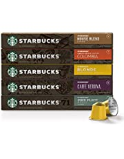 Starbucks by Nespresso, Favorites Variety Pack (50-count single serve capsules, 10 of each flavor, compatible with Nespresso Original Line System)