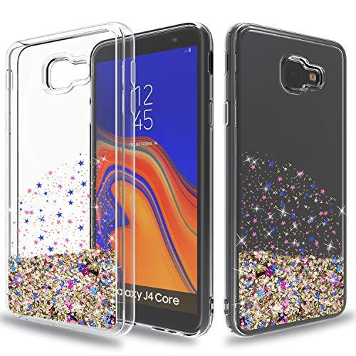 Wtiaw:Galaxy J4 Core Case,Galaxy J4 Core Phone Cases,Galaxy J4 Prime Case,Galaxy J4 Prime Phone Cases,Galaxy J4 Core J410G Case,Quicksand Series Glitter Case for Galaxy J4 Core-SA Rose Gold