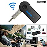 YunZyun Bluetooth Transmitter Wireless Bluetooth 3.5mm AUX Audio Stereo Music Home Car Receiver Adapter Mic,Play Music Through Your Car Stereo and Answer Phone Call Via The Built-in Mic (Black)